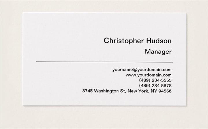 platinum-simple-plain-manager-business-card
