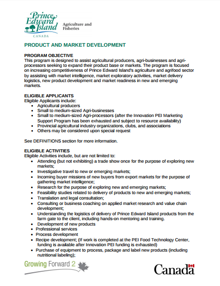 product and market development2