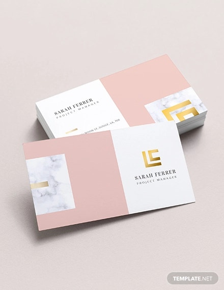 project manager business card