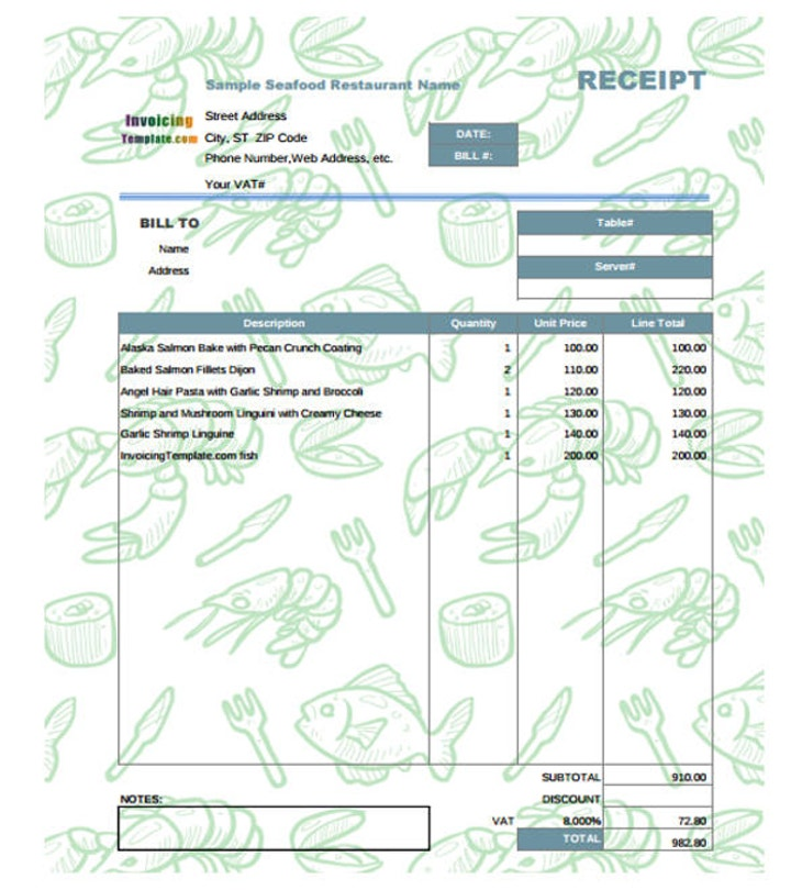 receipt-sample-for-seafood-restaurant