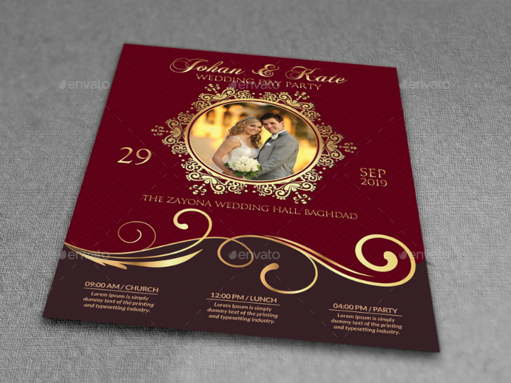red-and-gold-wedding-party-flyer-template