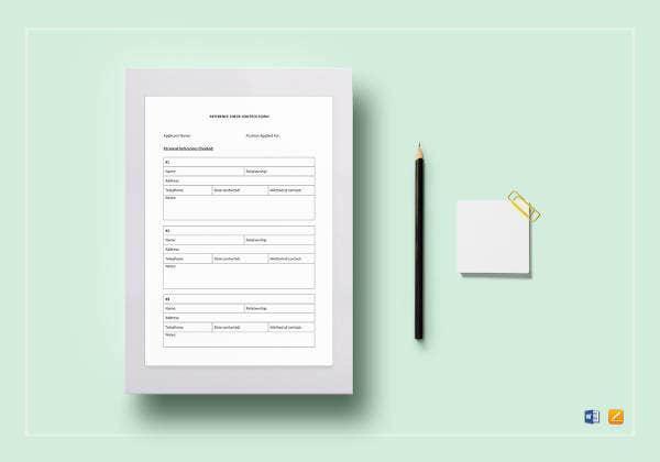 reference-check-form-template