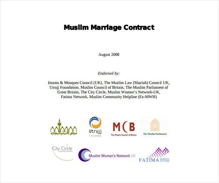 Regional Wedding Contract Sample