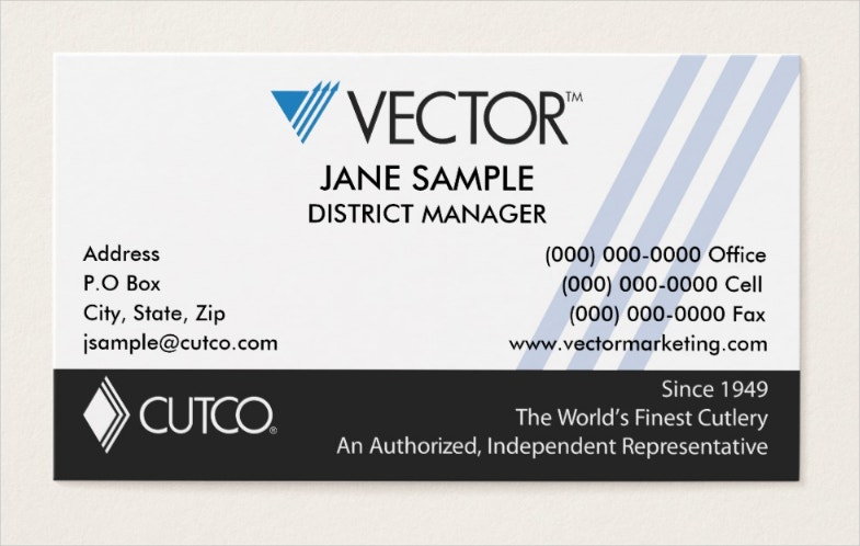 representative and manager business cards
