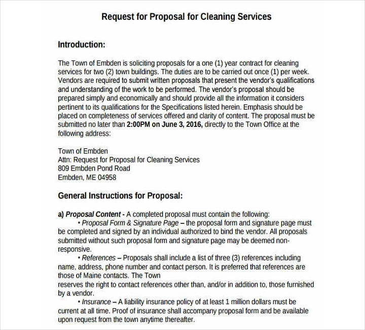 9 cleaning proposals for restaurants cafes and bakeries free