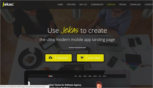 responsive bootstrap 3 app landing page
