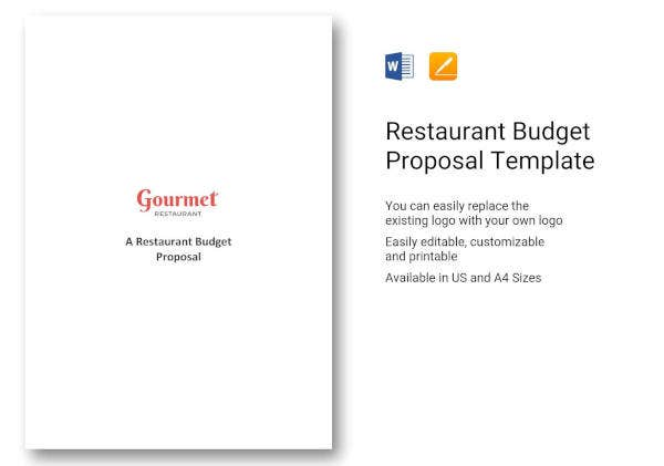 11 budget proposals for a restaurant cafe bakery free pdf doc