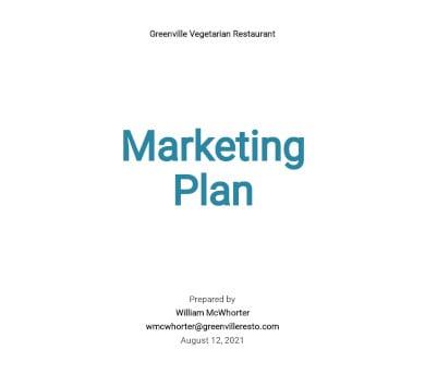 restaurant marketing plan template3