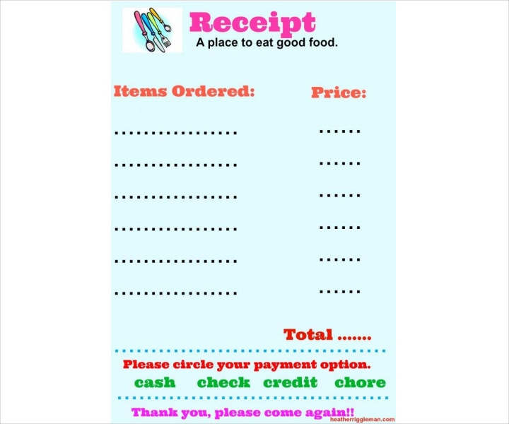 Restaurant Receipt Templates Free PDF DOC Format Download - Restaurant receipt template