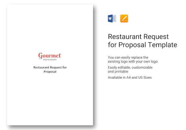 How To Write A Restaurant Proposal Free Pdf Doc Format Download