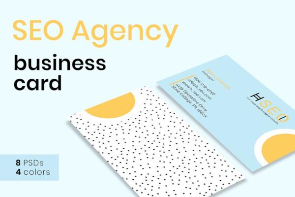 seo agency business card template