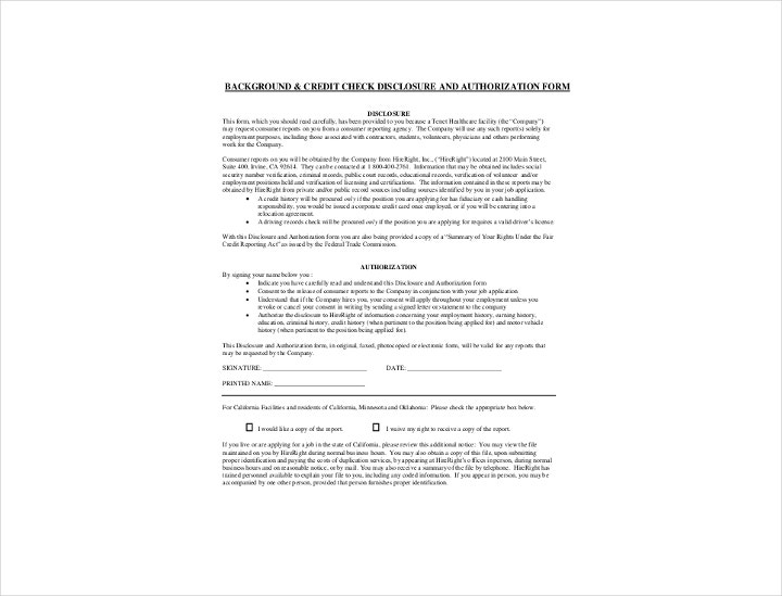 Background Check Information Forms  Templates  Pdf Doc  Free