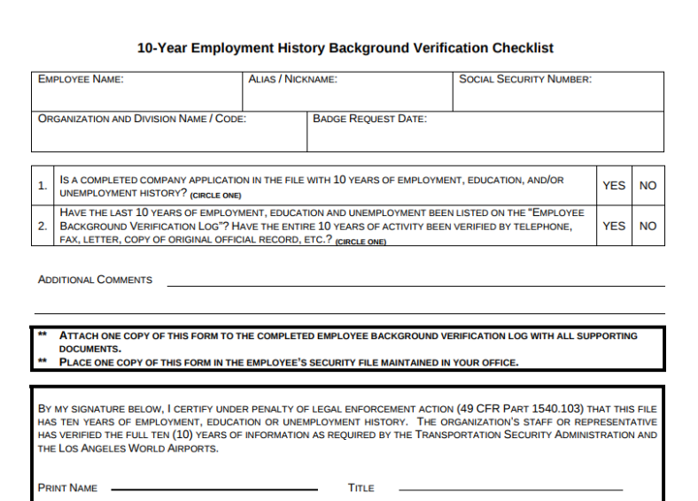9 Employment History Verification Forms Amp Templates Pdf