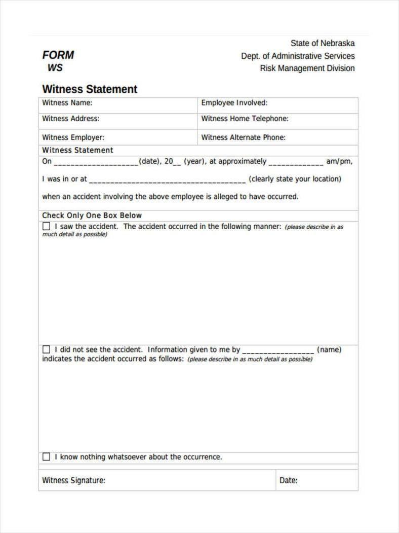 Service Witness Statement
