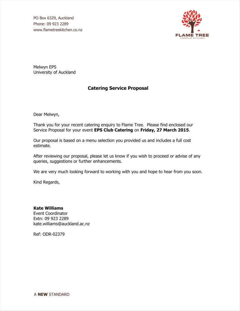 catering email template - 9 how to write a catering proposal free word pdf