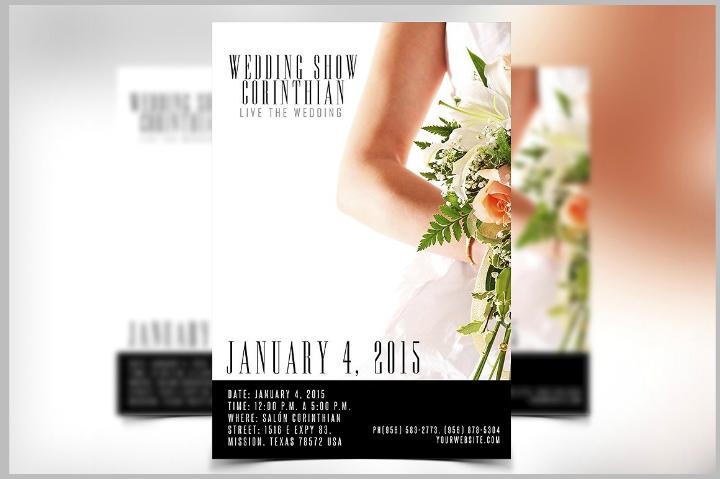simple wedding flyer template