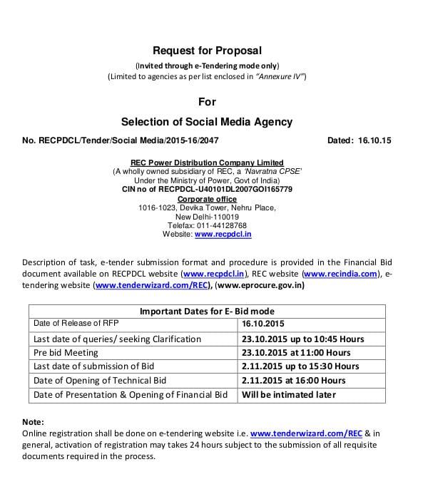 Social Media Agency Proposal