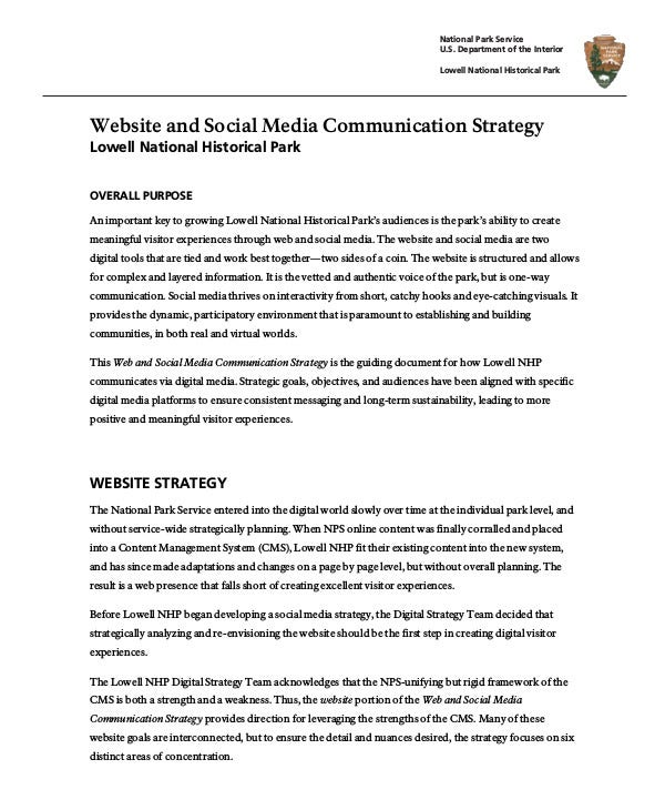 Social Media Communication Strategy Example