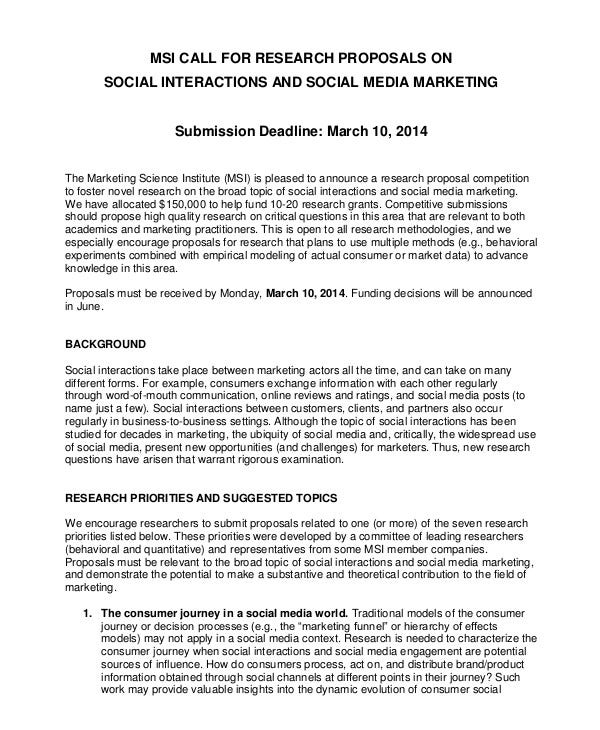 Social Media Research Proposal