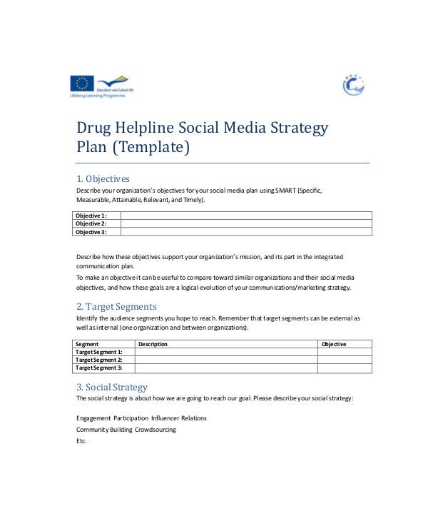 Social Media Strategy Plan Example