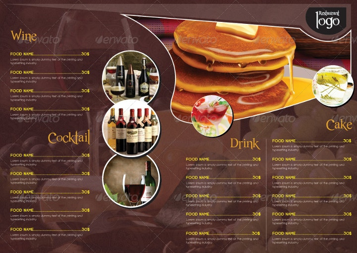 Sophisticated Restaurant Menu Template