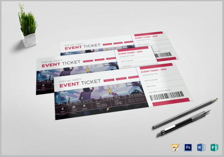 Ticket Designs And Templates In PSD Free Premium Templates - Event ticket template photoshop