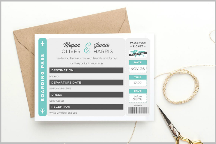 14 Destination Wedding Invitations Editable PSD AI InDesign