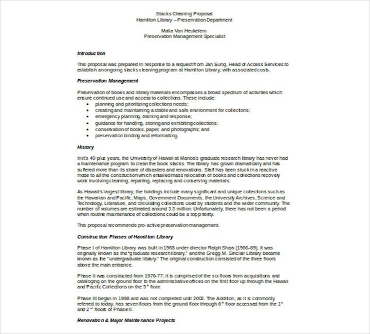 how to write a cleaning business proposal