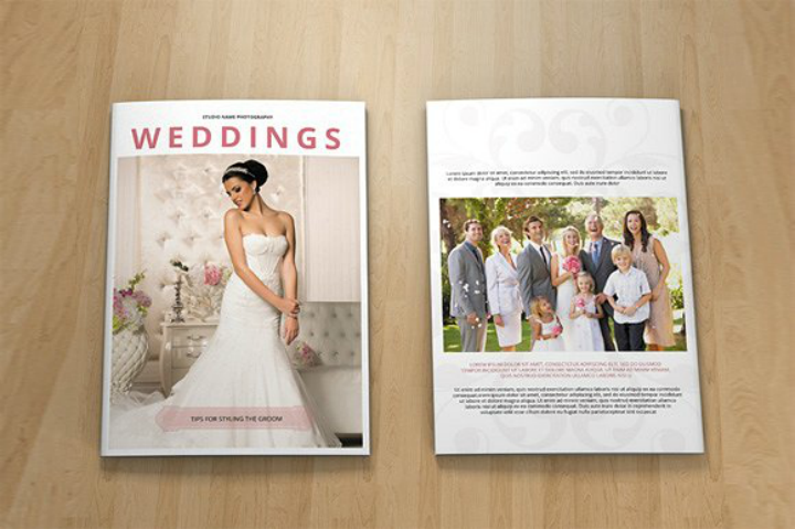 14 wedding catalog designs templates psd ai for Wedding photography brochure template