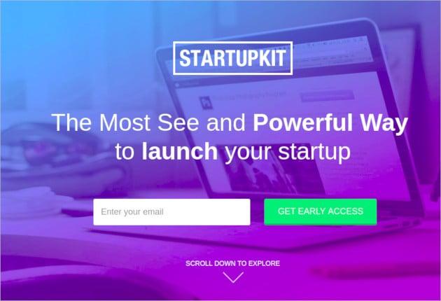 startupkit responsive parallax landing template