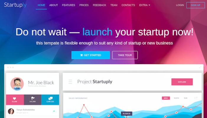startuply responsive multi purpose landing page