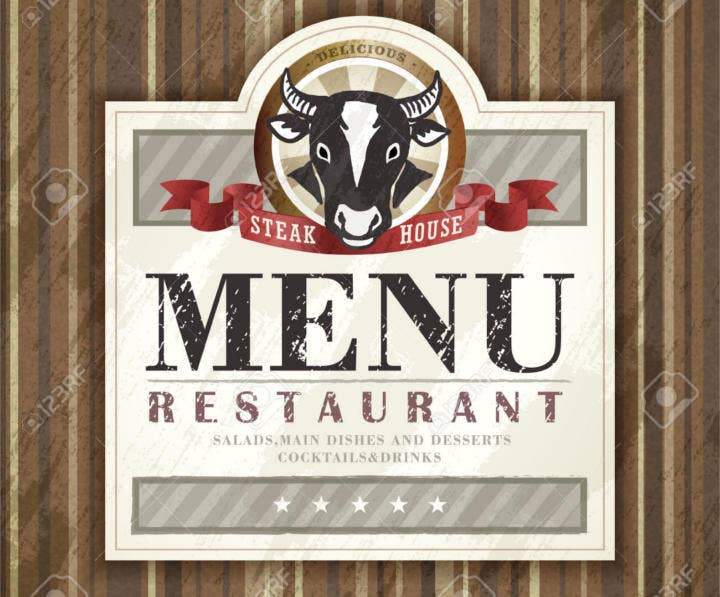 Steak House Restaurant Menu