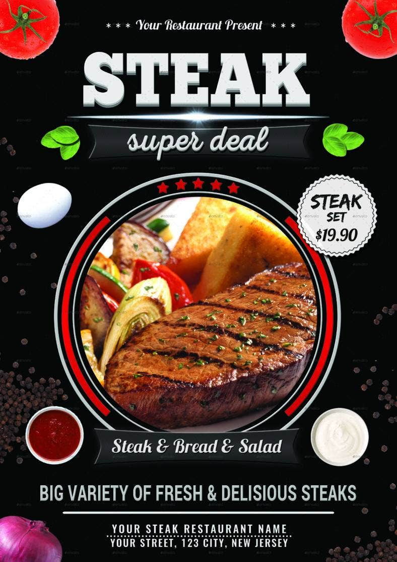 steak-restaurant-flyer