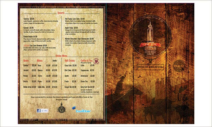 steak-house-menu-design