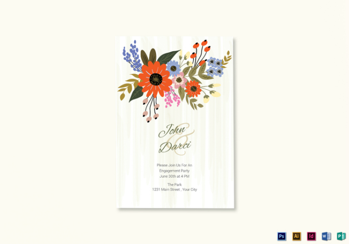 summer-floral-engagement-announcement-card-design-psd-template