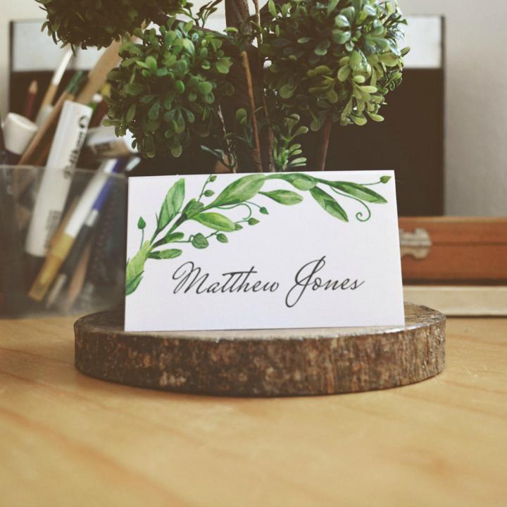 summer wedding table card template