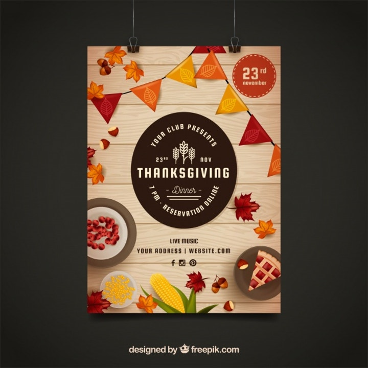 thanksgiving club poster template
