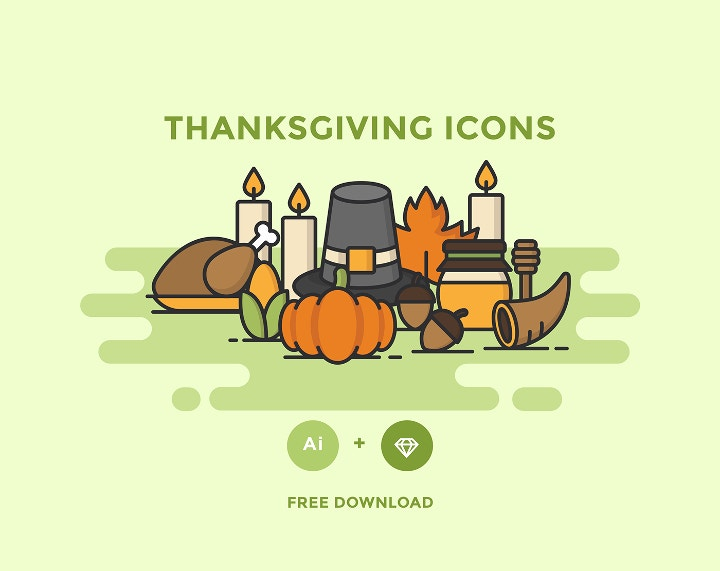 thanksgiving icons template