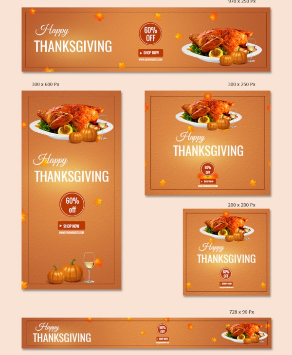 thanksgiving restaurant banner template