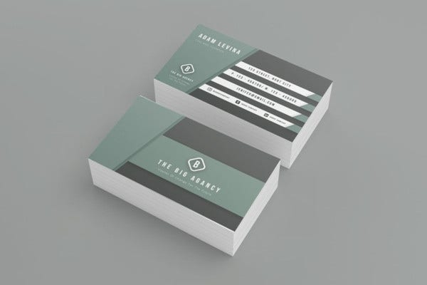 the big agency business card