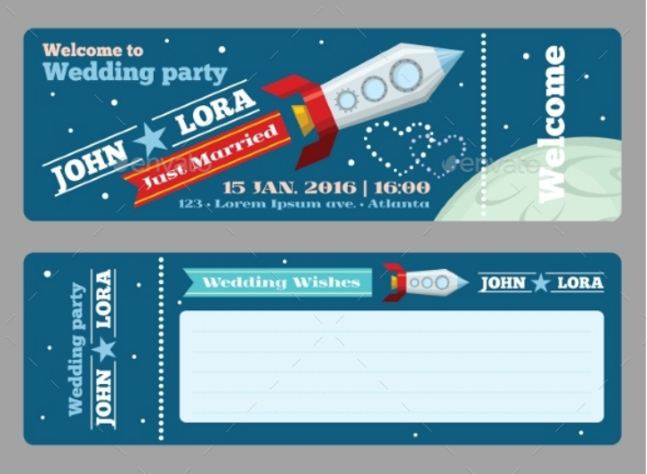 tickets-vector-blank-wedding-invitation-template