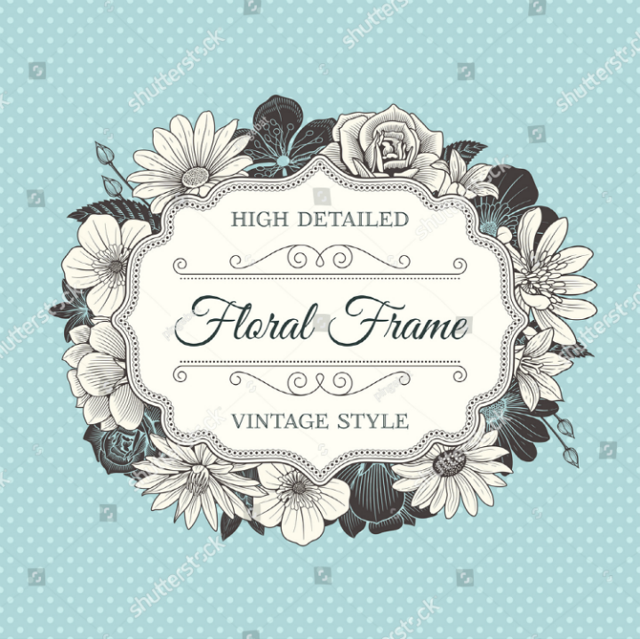 vector-wedding-label-frame-design-template