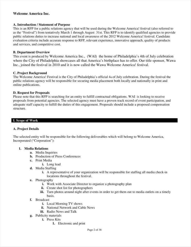 10 public relations proposal templates free pdf doc format