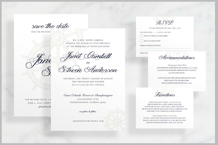 29+ Nautical Wedding Templates - Editable PSD, AI Format Download ...