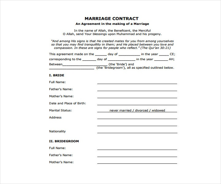 Wedding Contract Template PDF Format
