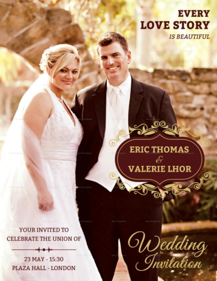 wedding invitation flyer design template