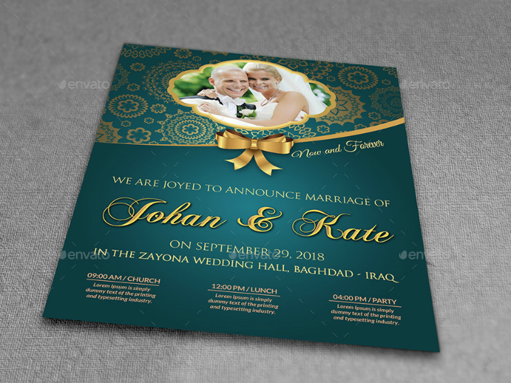 wedding party flyer template psd