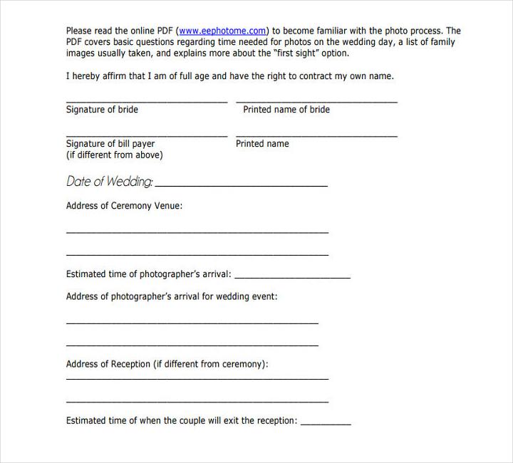 wedding schedule templates