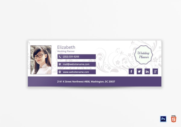 wedding planner email signature template