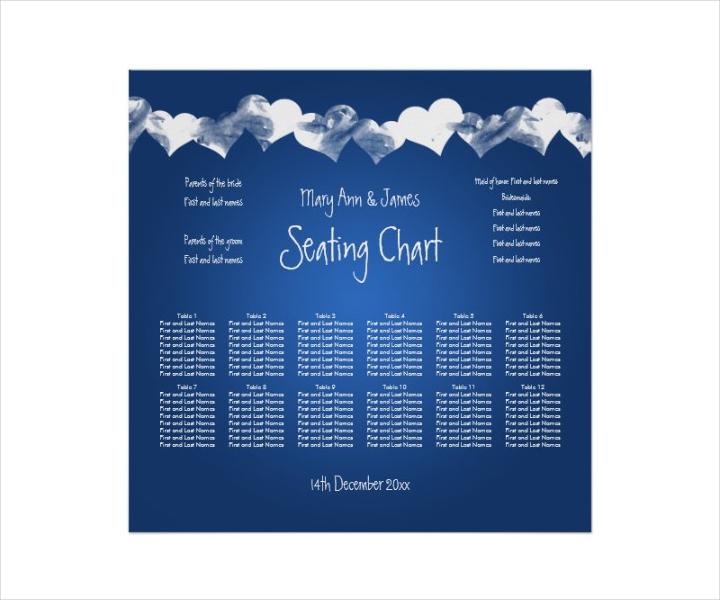 Wedding Seating Chart Sample